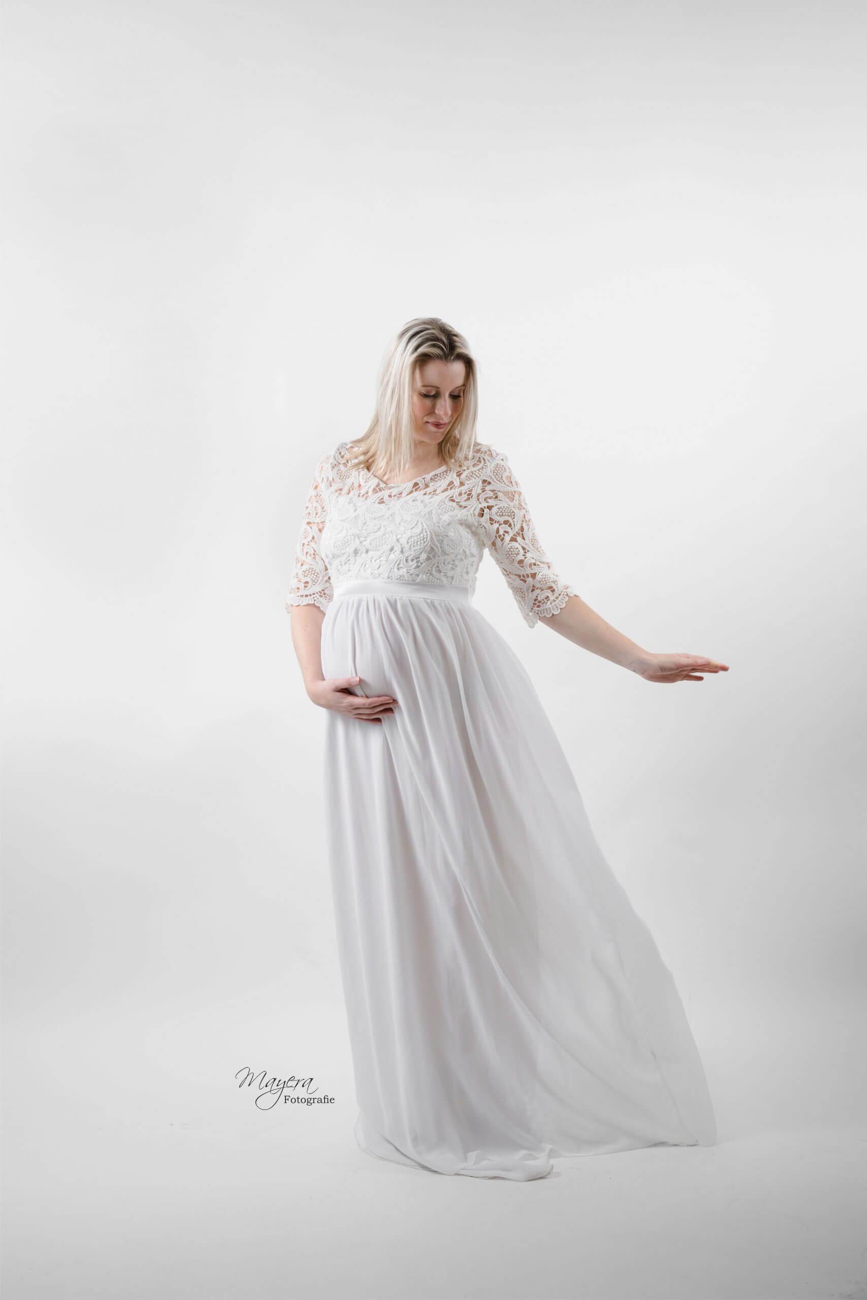 Angel zwangerschapsjurk studio licht doek wijk bij duurstede