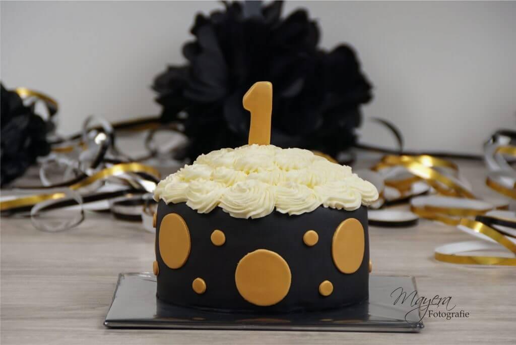 Goud zwart cake smash