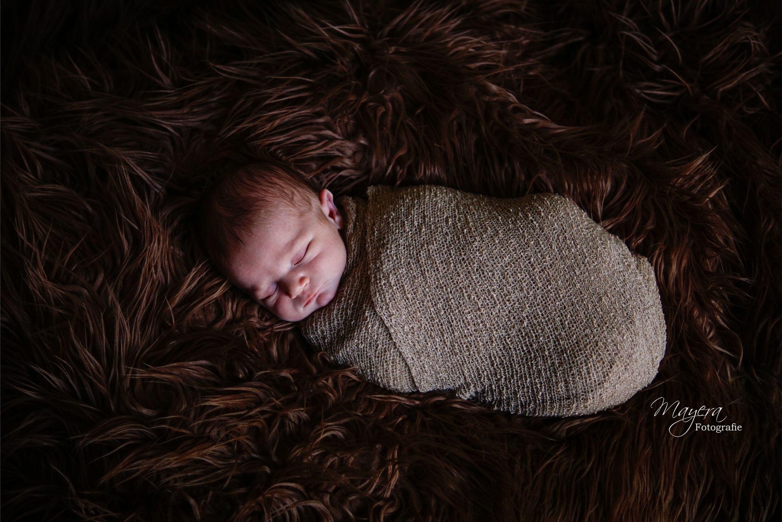 Newborn baby boy wrap