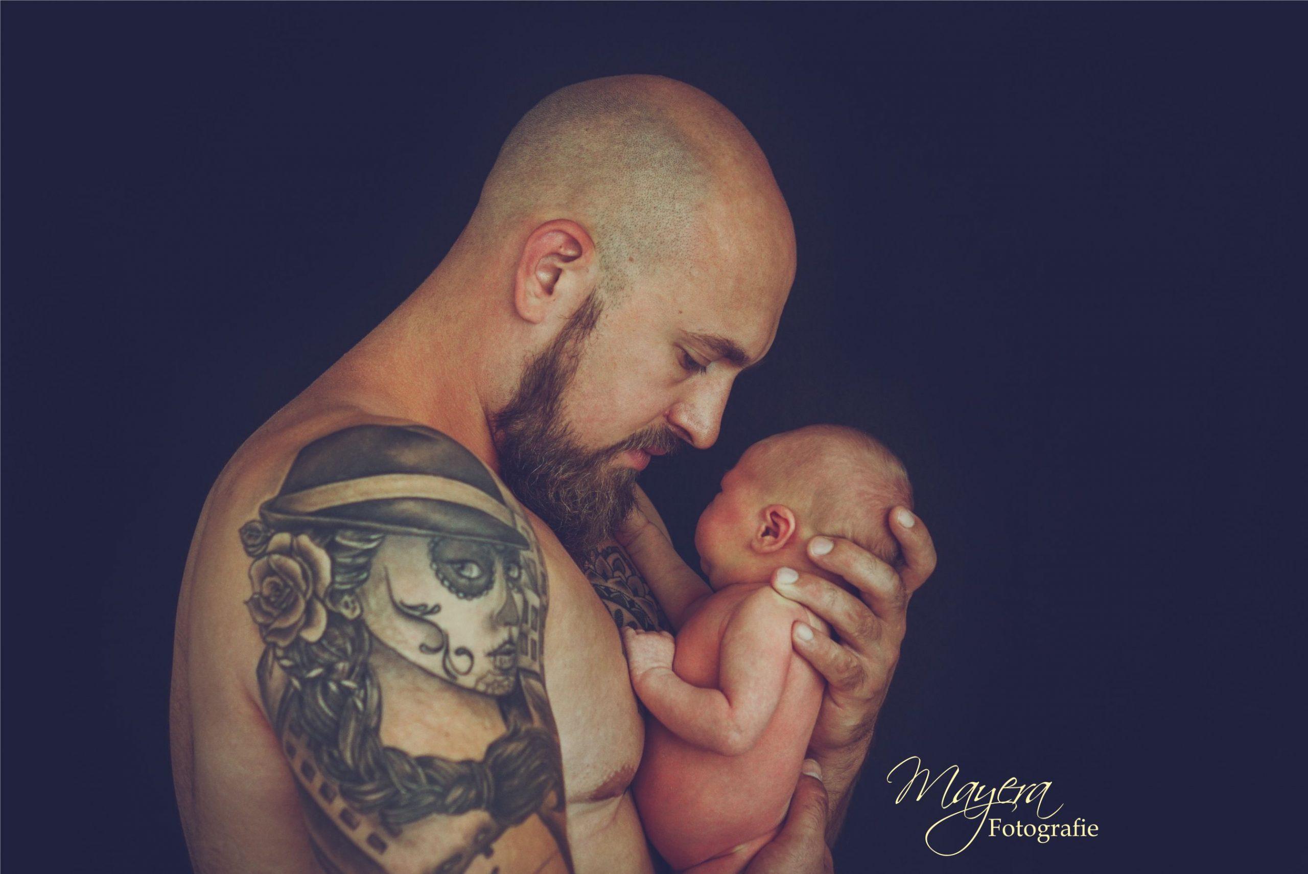 Vader en dochter samen