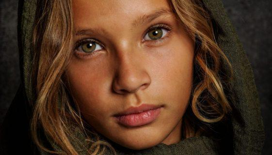 Groene ogen - fotoshoot