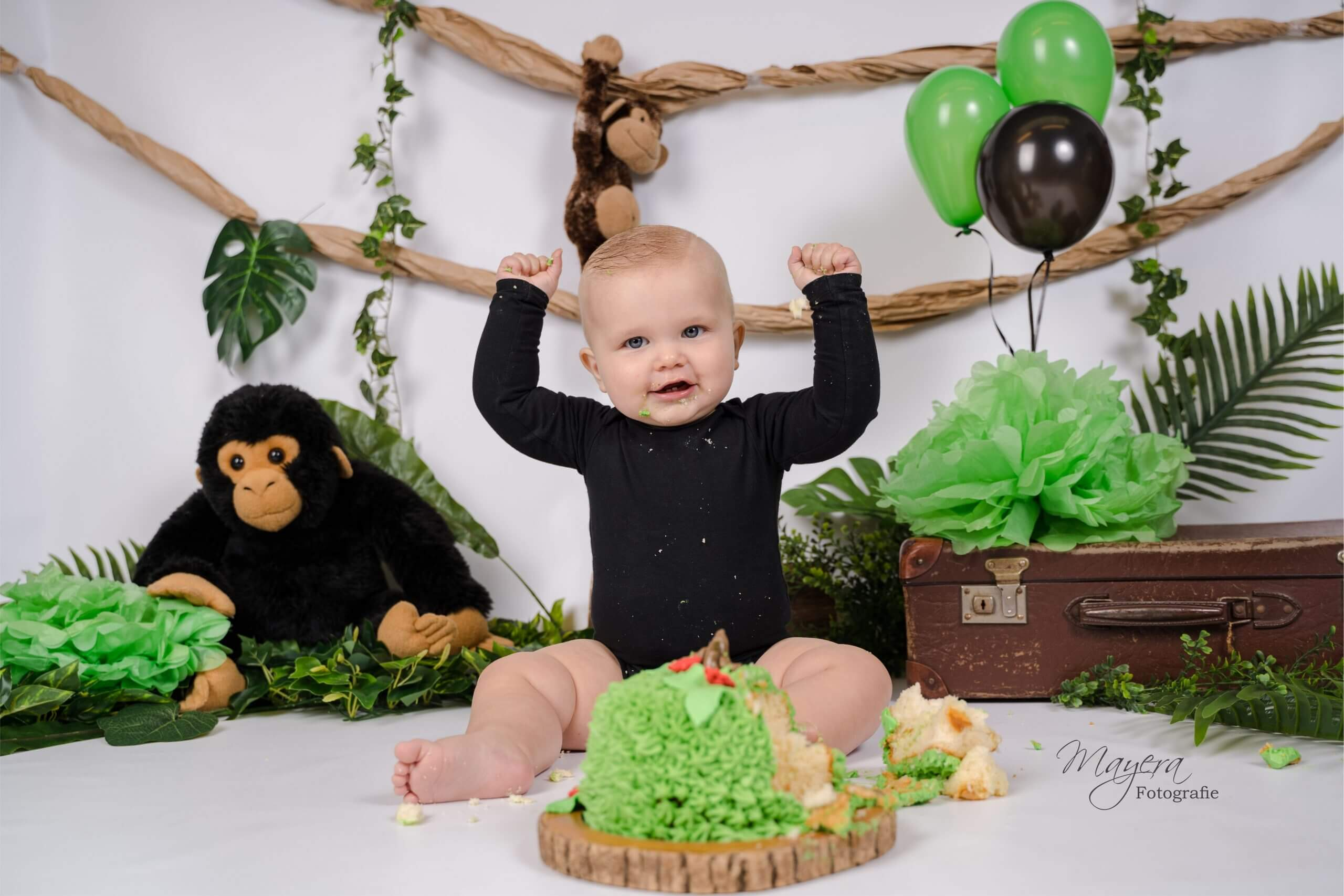 cake smahs kind baby jungle thema