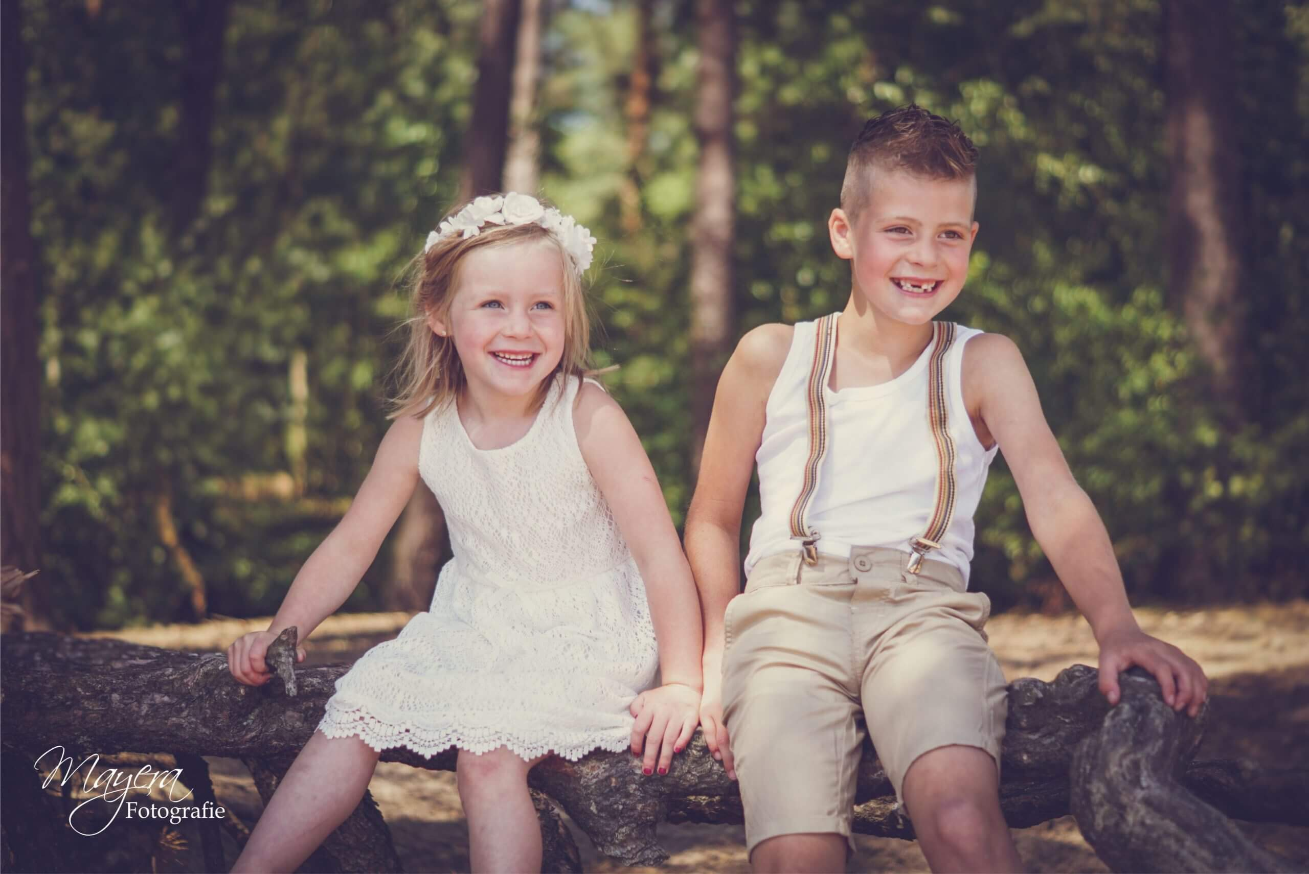 gezin sessie bos
