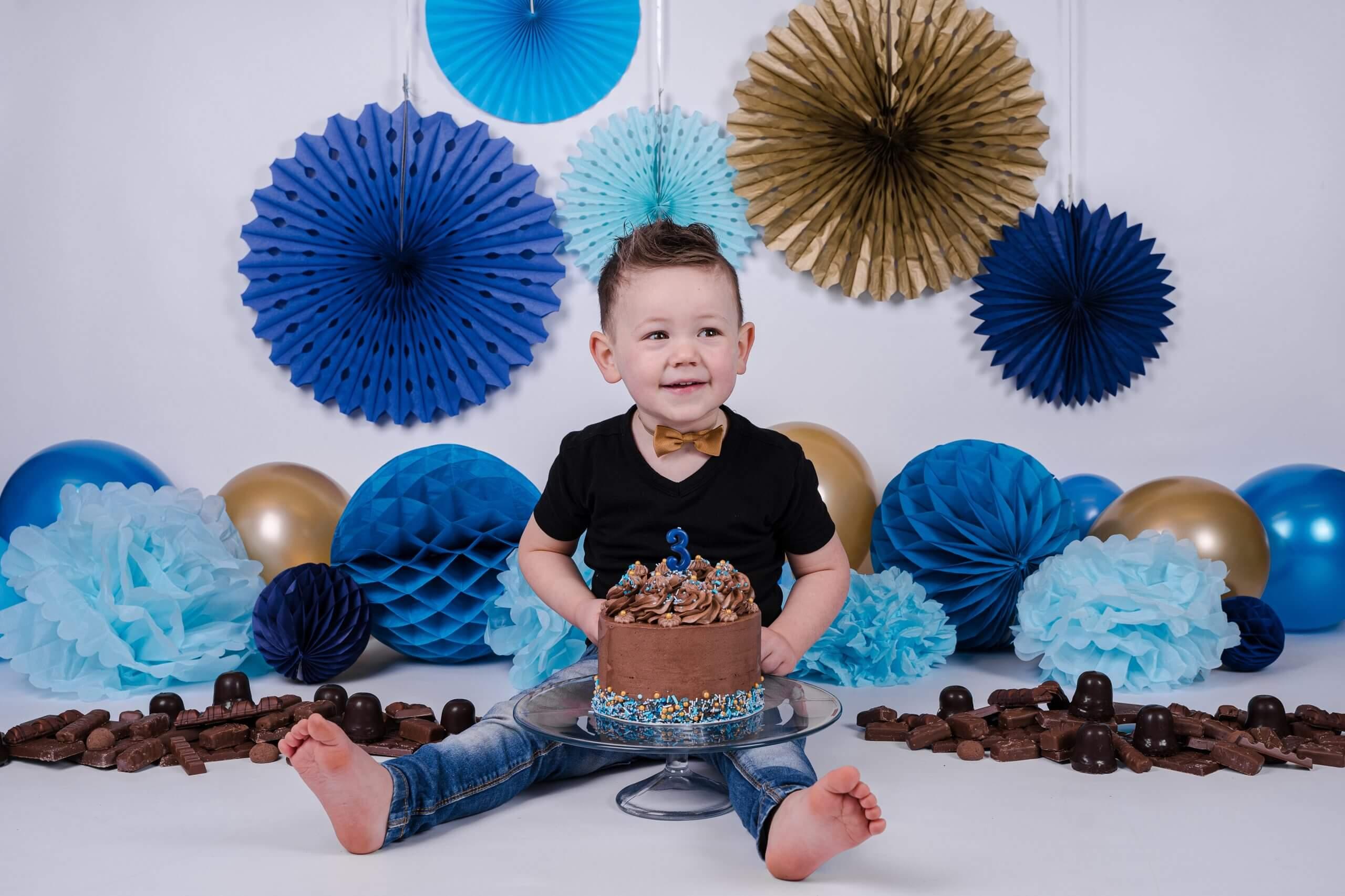 jongen cake smash 3 jaar wijk bij duurstede