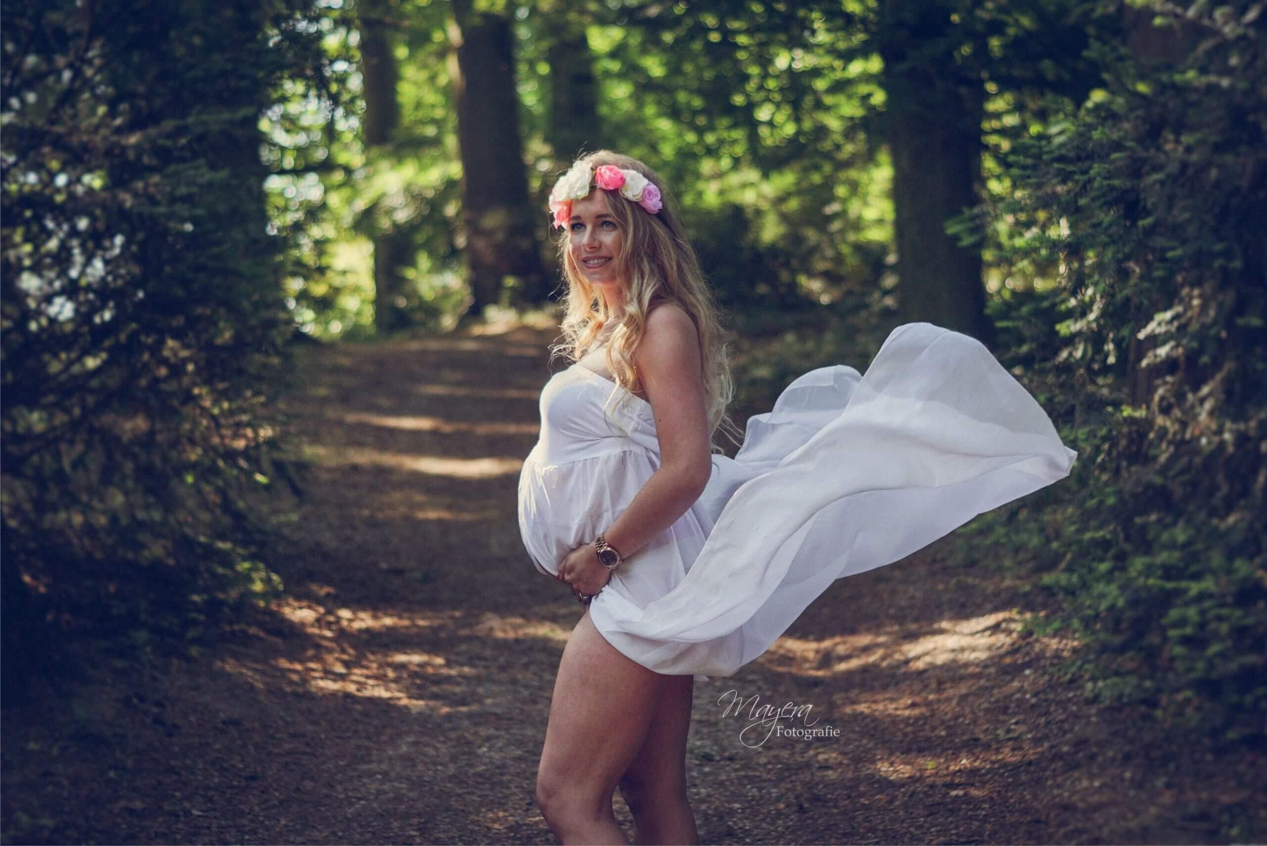 jurk mama to be het bos