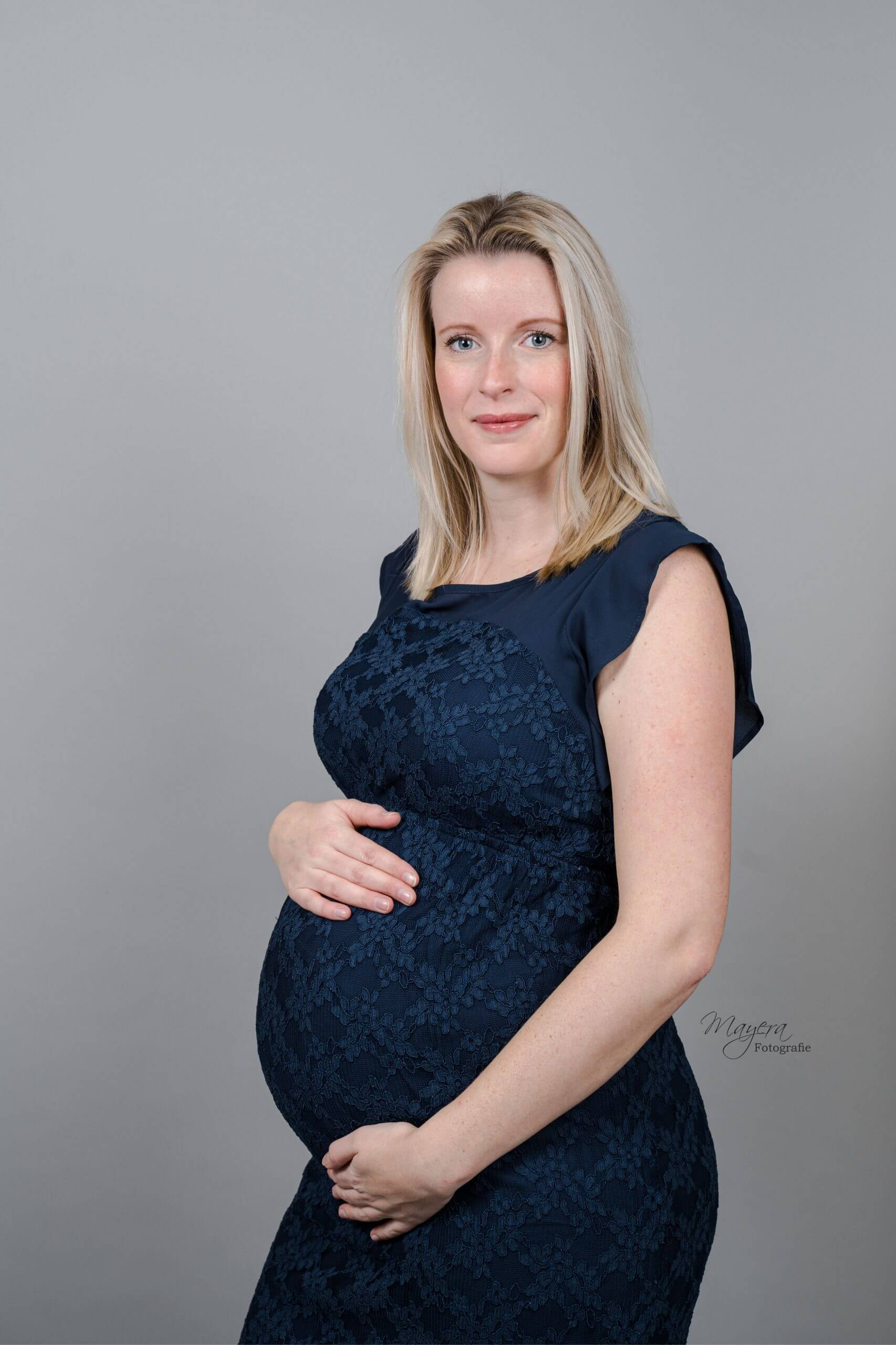 maternity dress donker blauw utrecht