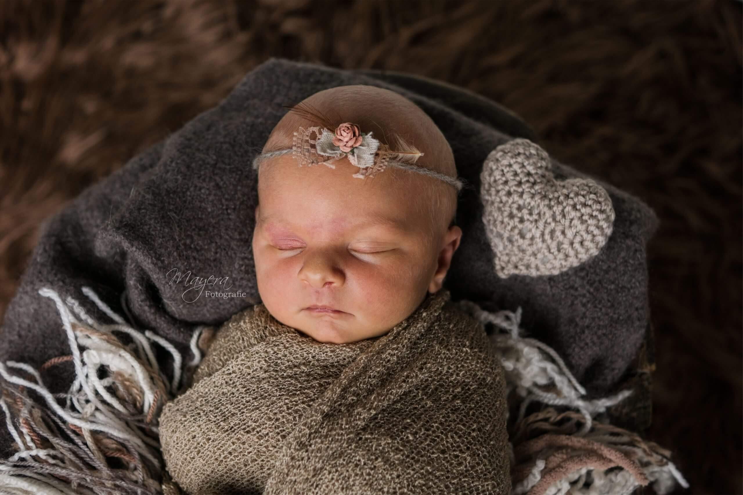 newborn baby girl hart