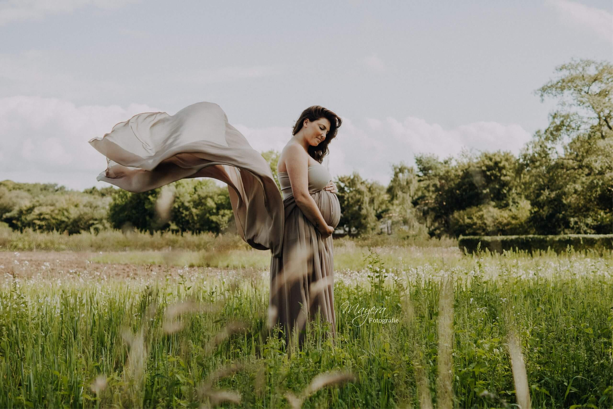 romantisch vintage fotoshoot zwangerschap 3