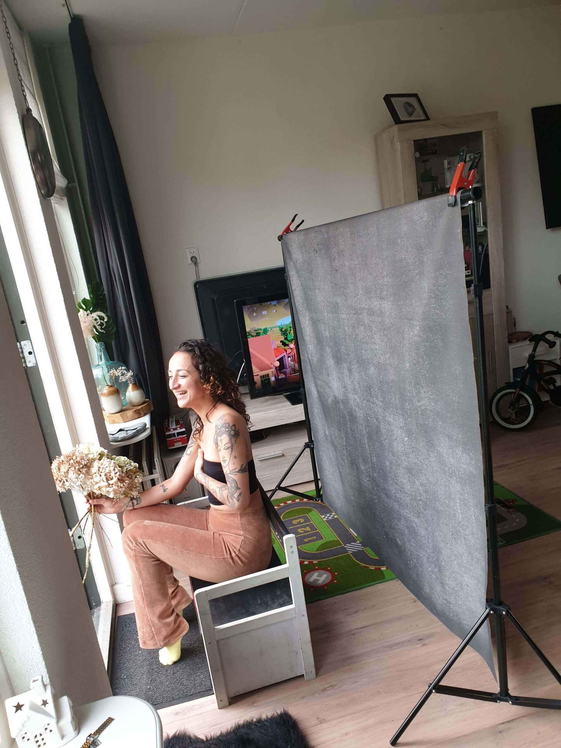 Backstage daglicht portret thuis at home Wijk bij duurstede