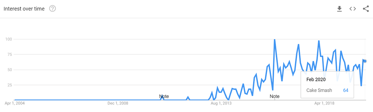 Populairiteit Cake Smash in Nederland
