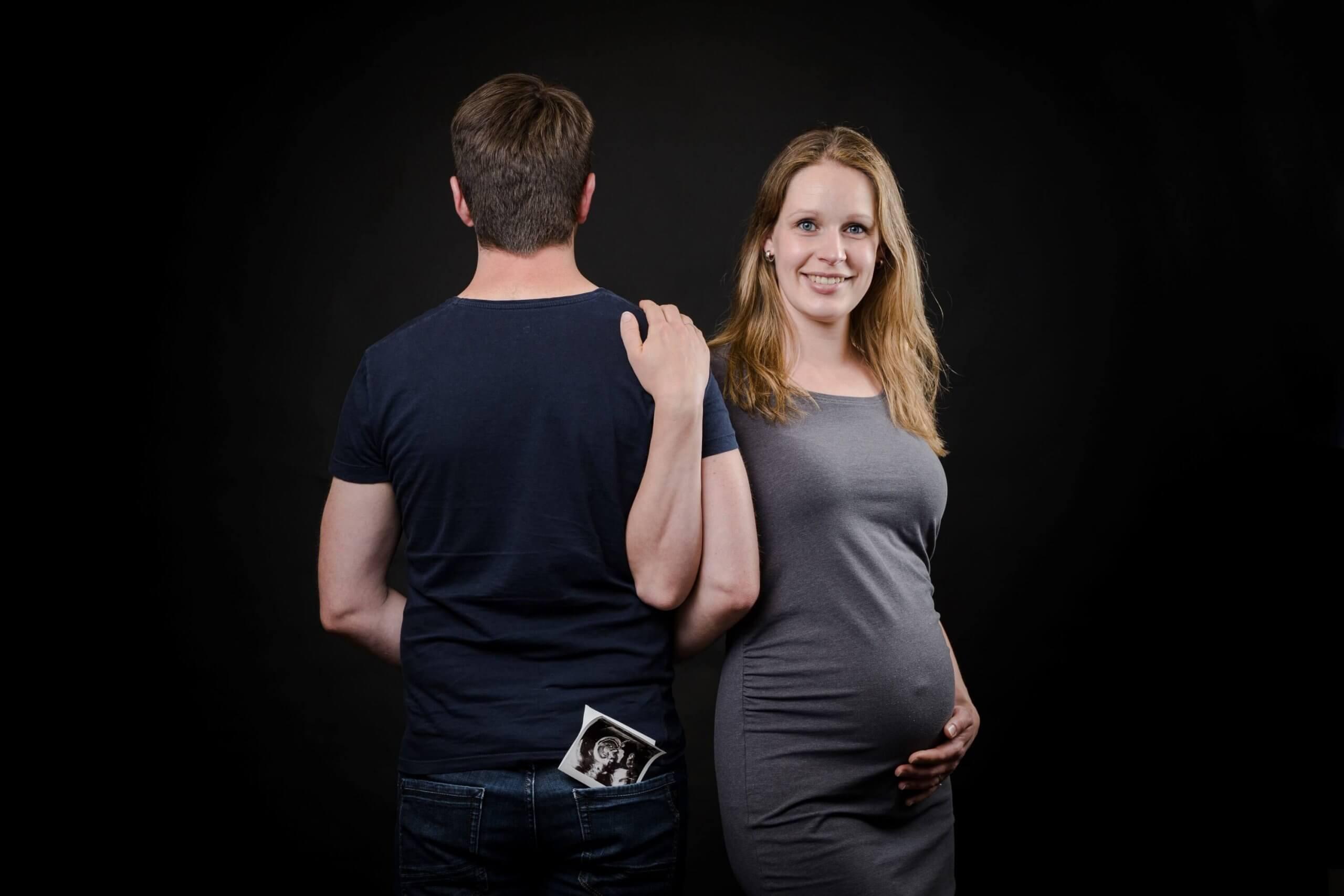 Zwangerschap koppel samen ouder worden echo fotoshoot studio tiel maurik