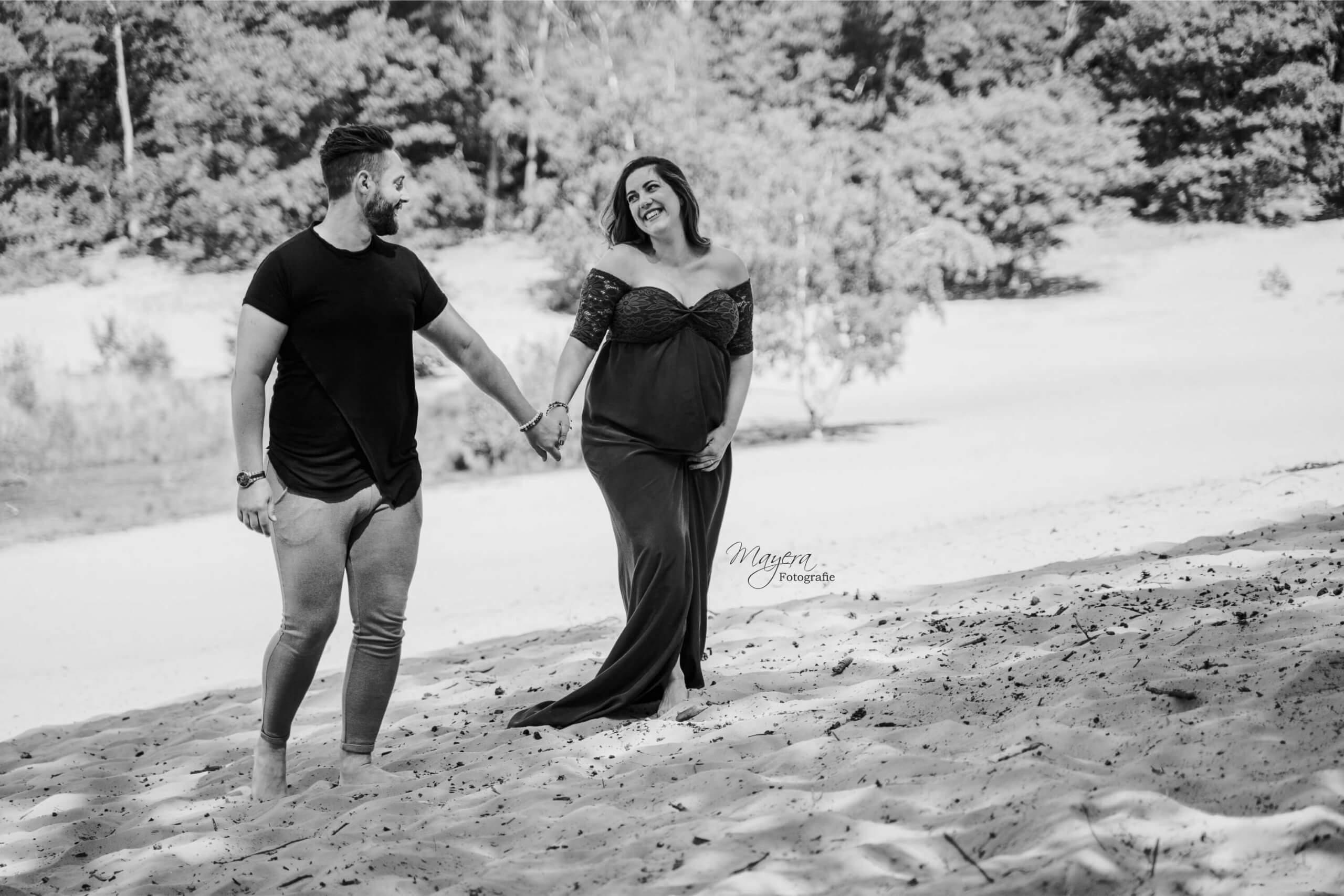 a Zwangerschap Grote bos soest maternity jurk natuurlijk zandvlakte Utrechtse heuvelrug
