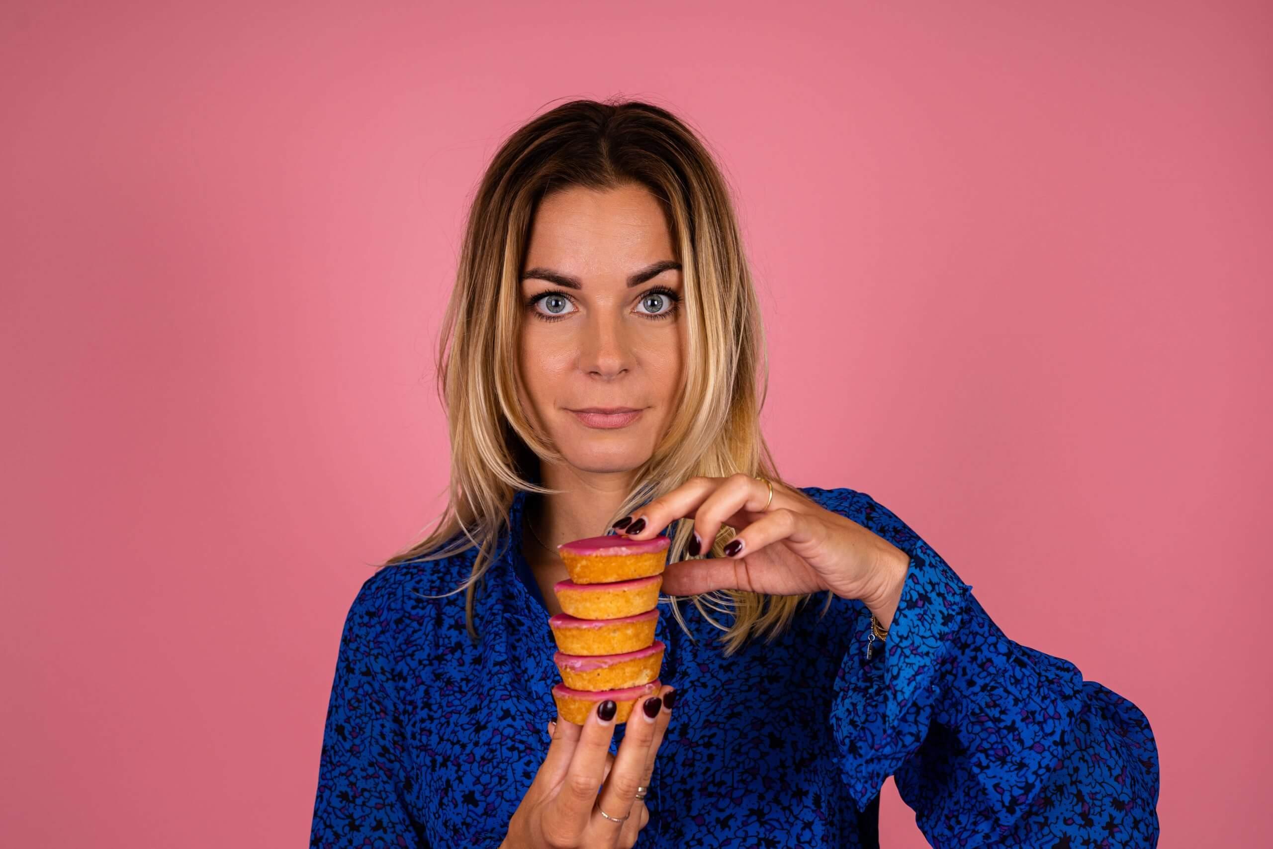 Bedrijfsfotografie business content zzper vrouwelijke ondernemer Lekkerkerk Say yes to health roze pink