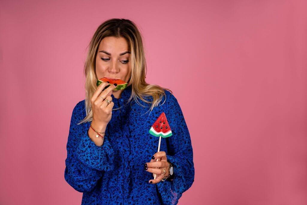 Bedrijfsfotografie business content zzper vrouwelijke ondernemer Lekkerkerk Say yes to health.JPG feed pink