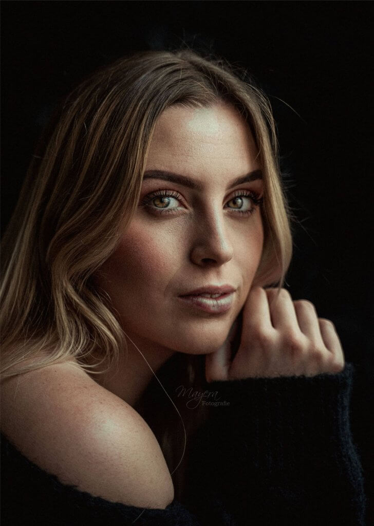 Portret Megan daglicht sony camera reflectiescherm vleuten utrecht maarssen