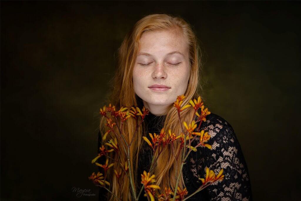 Portret fine art rood hair red hair portrait