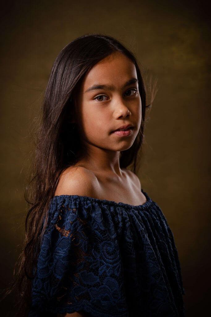 Portret meisje dochter fine art studio licht woudenberg