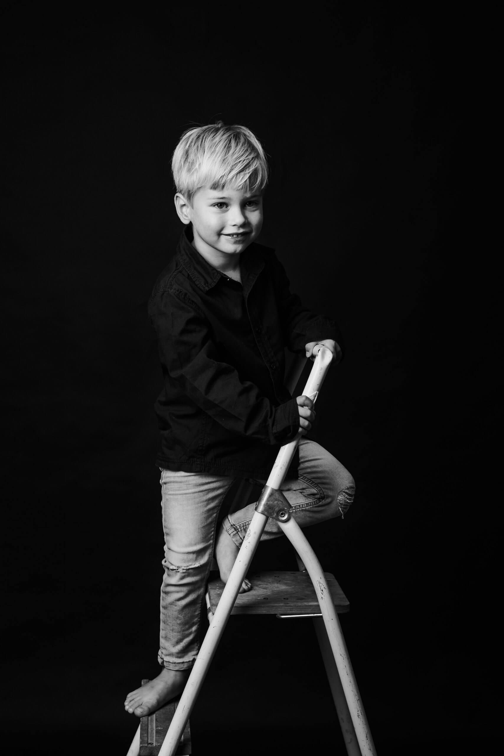 Familie boy jongen trap studio de meern utrecht tiel