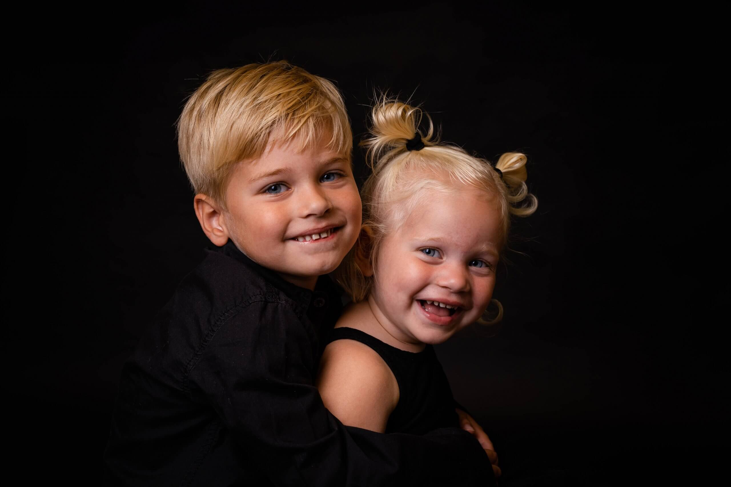 Familie kids broer en zus siblings studio