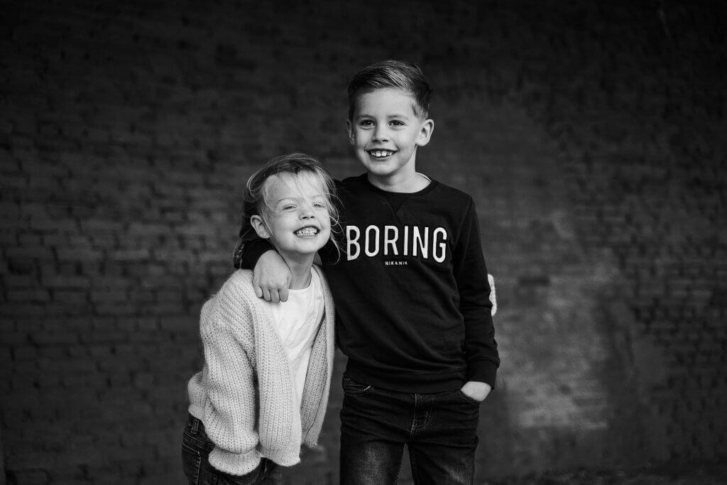 Familie kids broer en zus portret wijk bij duurstede culemborg