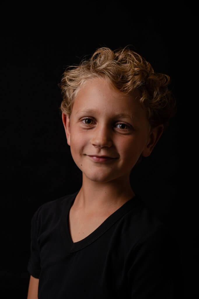 Portret kind jongen amersfoort leusden huis ter heide zeist driebergen studio sessie