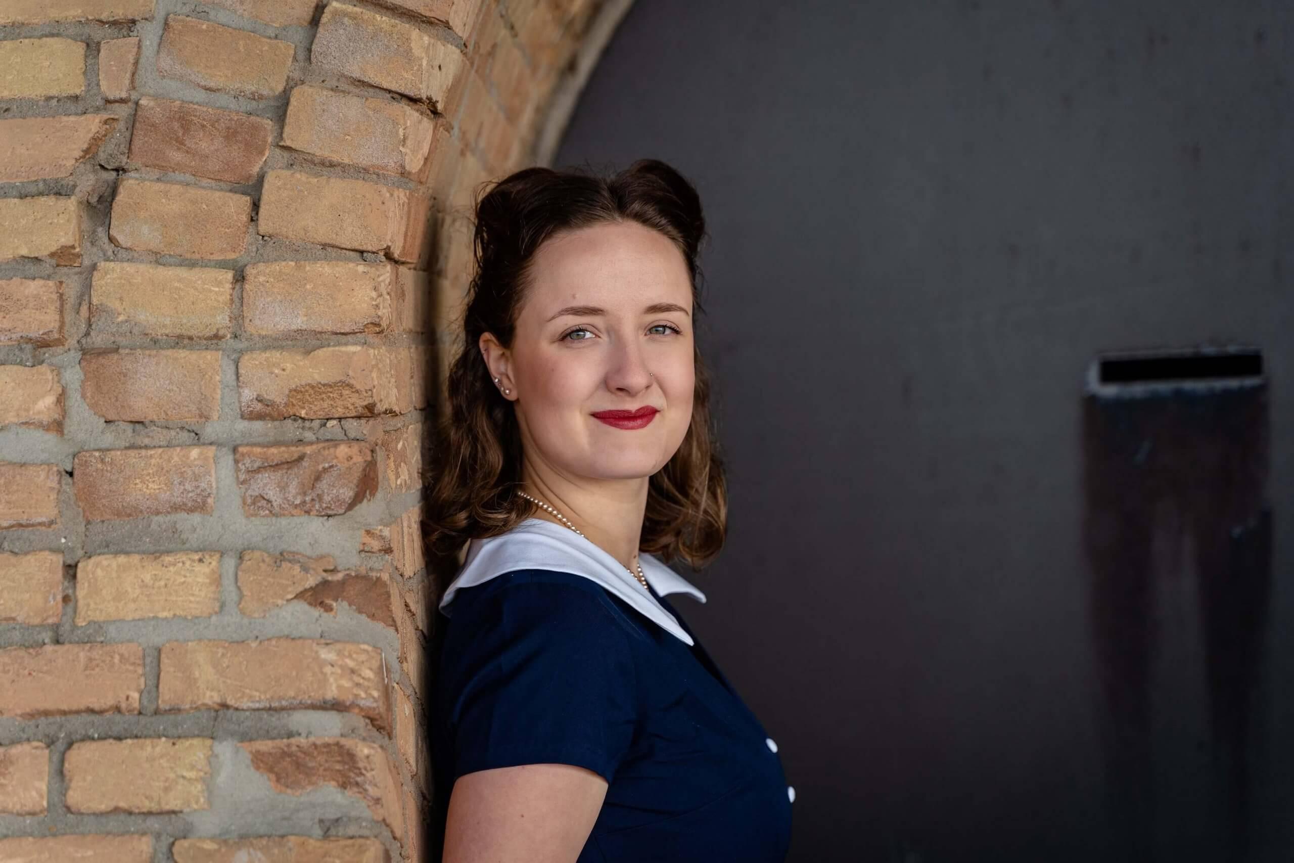 Portret vrouw vintage look wijk bij duurstede utrecht