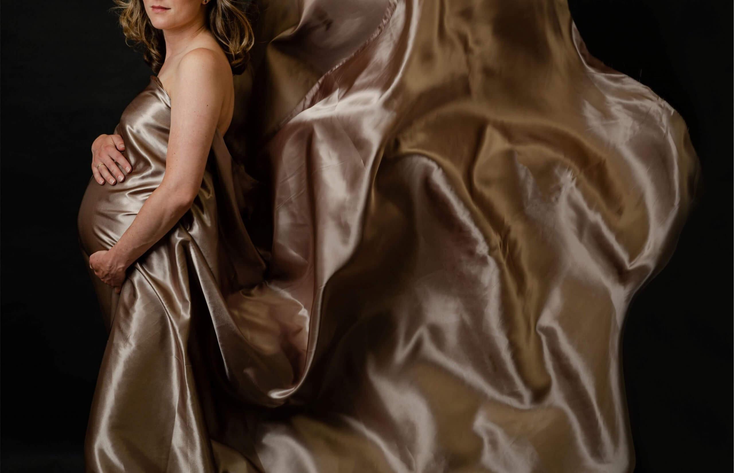 Garderobe beige taupe doek